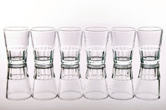 Empty Glasses Stock Image