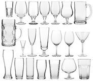 Empty glassware collection Stock Image