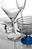 Empty glassware with reflection Royalty Free Stock Image