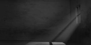 Empty gloomy room. Dark scenery with empty gloomy room Royalty Free Stock  Photography