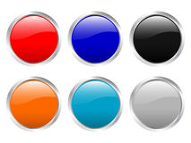 Empty glossy buttons Stock Image