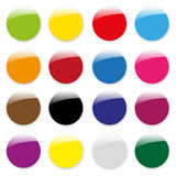 Empty glossy color icons  Royalty Free Stock Photography