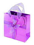 Empty glossy pink gift bag Stock Image