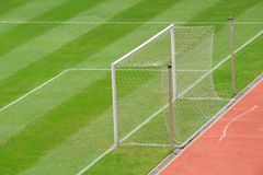 Empty Goal Stock Image