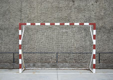 Empty goal Stock Photography