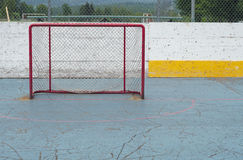 Empty goal hockey sport net aspiration playing success Royalty Free Stock Photography