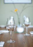 Empty goblets on table Stock Images
