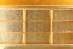 Empty gold box Stock Photo