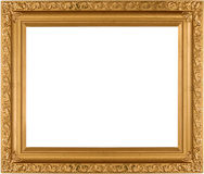 Empty Gold frame Stock Image