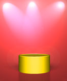 Empty gold podium Royalty Free Stock Images