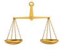 Empty gold scales Royalty Free Stock Image