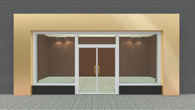 Empty Gold Store Front Royalty Free Stock Images