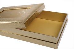 Empty golden box Stock Photo