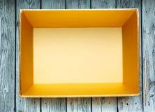 Empty golden box Stock Images