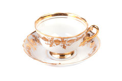 Empty golden cup Stock Image