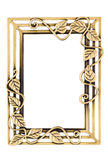Empty Golden Decorative Frame Royalty Free Stock Photo