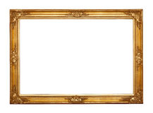 Empty golden frame Royalty Free Stock Photography