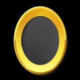 Empty golden picture frame. Stock Photos
