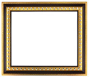 Empty golden picture frame Stock Photos