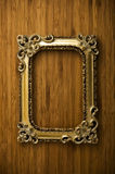 Empty golden picture frame Royalty Free Stock Photo