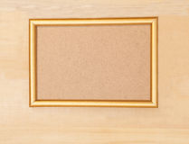 Empty golden picture frame Stock Photo
