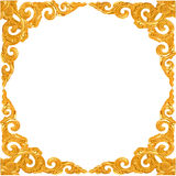 Empty Golden Vintage Frame Royalty Free Stock Photography