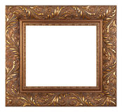 Empty golden vintage frame isolated Royalty Free Stock Photo