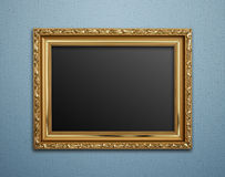 Empty golden vintage frame Royalty Free Stock Photos