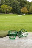 Empty Golf Ball Baskets at Driving Range Royalty Free Stock Photo