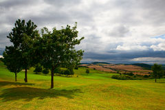 Empty golf course after rain Royalty Free Stock Photography
