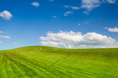 On a empty golf course in spring. Day Royalty Free Stock Photo
