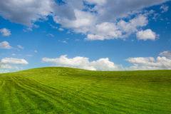 On a empty golf course in spring. Day Stock Photography