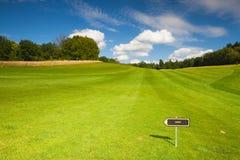 Empty golf fairway Stock Images