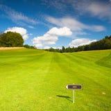 Empty golf fairway Royalty Free Stock Photo