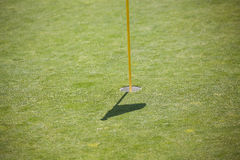 Empty Golf Hole Royalty Free Stock Images