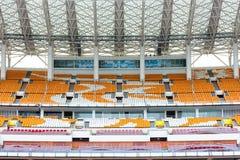 Empty grandstand seat Stock Photo