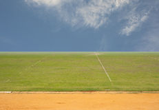 Empty grass Stock Photography