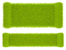 Empty  grass blank. Abstract shape 3D. Isolated Stock Photo
