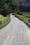 Empty Gravel Country Road Stock Images