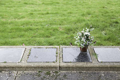 Empty graves in a cemetery Royalty Free Stock Photo
