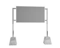 Empty gray billboard Royalty Free Stock Photography