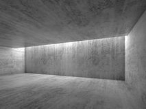 Empty gray concrete room interior. Abstract 3d. Empty gray concrete room interior. Abstract modern architecture background, 3d render Stock Images