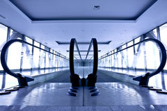 Empty gray escalator Royalty Free Stock Images