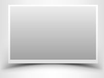 Empty gray photo frame with shadow Royalty Free Stock Images
