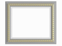 Empty gray picture frame isolated Stock Photo