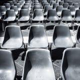 Empty gray plastic seats Stock Image