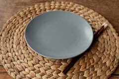 Empty gray plate. Stock Photography
