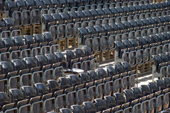 Empty gray stand. Obviously part of the movable seat intended audience Nyssa hedgehog Festival - NIŠVILLE Stock Images