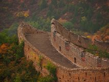 Empty Great Wall of China Royalty Free Stock Photography