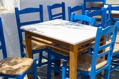 Empty Greek terrace Royalty Free Stock Image
